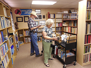 Visitors to the Library