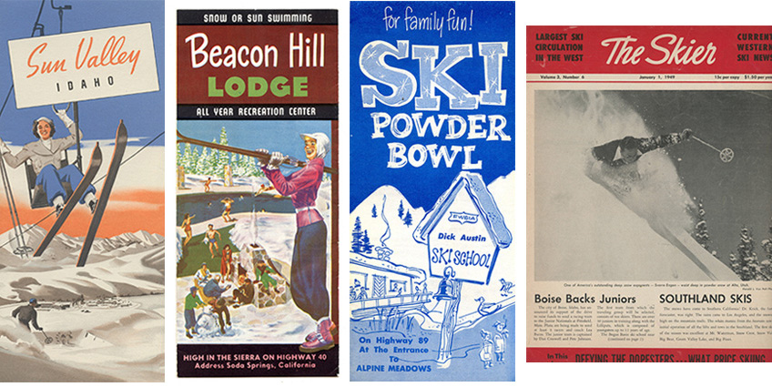 Sun Valley, The Skier, Beacon Hill Lodge and Ski Powder Bowl